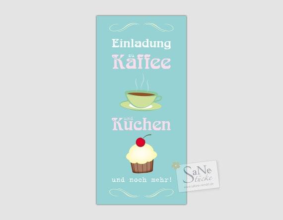 Ab 137 Eur Stuck Einladungskarte Geburtstag Zu Kaffee Und Etsy