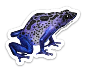 Any Color Sticker 2x3 Poison Dart Frog Vinyl Decal