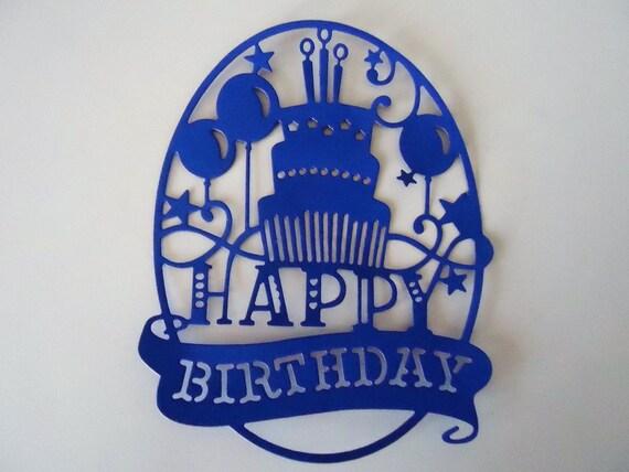 """10 x Stanzteile /""""Happy Birthday/"""" Kartenschmuck  Kartenaufleger Scrapbooking"""