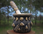 Mushroom witch Mortar and pestle