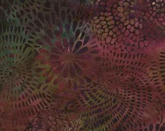 Patchwork Fabric Islandbatik 6/633 Batik Fabric Green/Purple/Red Pure Cotton Patchwork Sewing Quilting