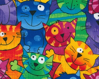 From 9.95Euro 19.90EUR/meter patchwork fabric Cats by Timeless Treasures made of pure cotton for patchwork, sewing, quilting