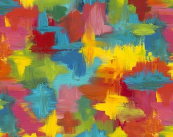 """Patchwork fabric from the Pizzazz series by Sue Penn """"Garden Patch"""" for sewing, quilting"""