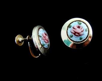 1960 /'s beautiful sparkling Navette rhinestones Ohrschrauben earrings 3.5 x 0.8 cm