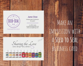 Personalized Young Living Business Card - Sharing the Love, YL Business Card 3.5x2
