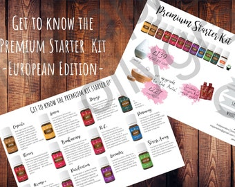 Young Living Premium Starter Kit Flyer - Personalized Europe