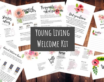 Young Living Welcome Kit - Personalized 11 Files for Printing, Watercolor