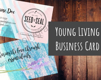 Young Living Business Card - Personalized Watercolor