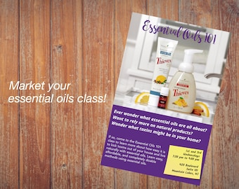 Young Living Essential Oils Class Flyer - Personalized, Thieves Kit