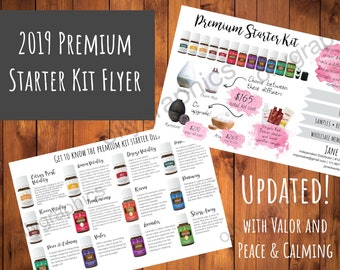 2019 Young Living Premium Starter Kit Flyer - Compliant, Personalized Young Living Flyer 4x6