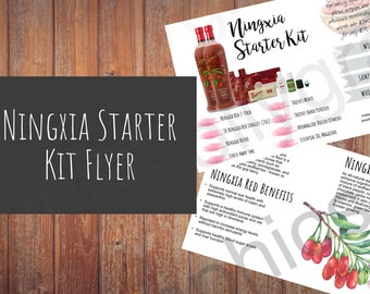 NIngxia Premium Starter Kit Flyer - Compliant Personalized Young Living 4x6