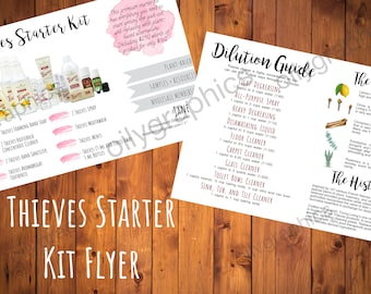 Young Living Thieves Starter Kit Flyer - 4x6 Compliant Personalized Young Living Flyer