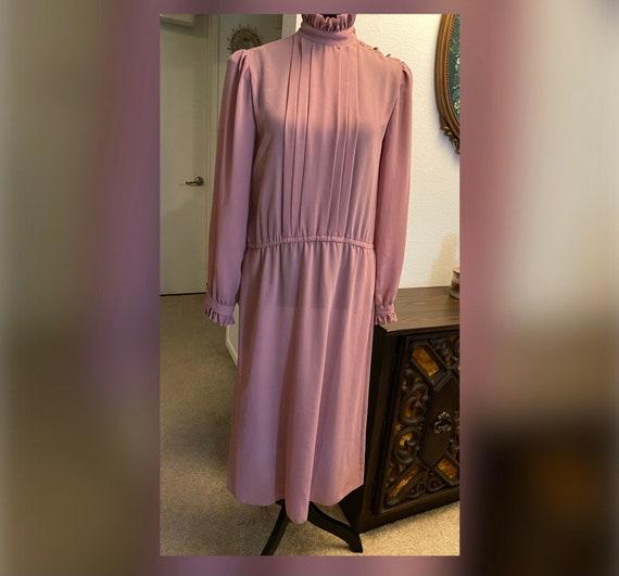 Vintage prairie dusty rose dress - image 5