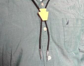 Yellow Keystone Bolo Tie