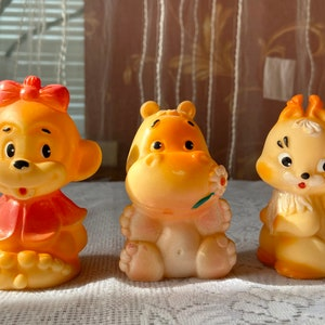 Animal Toy Baby Bath Toy Collectible Toy Soft Rubber Lion Toy Vintage Rubber Toy 1970s Retro Rubber Doll Nursery Decor