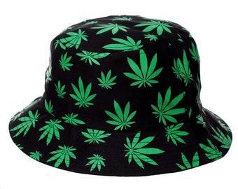 d00527cb9c235 Weed Leaf Bucket Hat