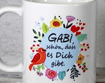 geschenk freundin tasse