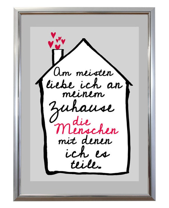 Kunstdruck Spruch Familie Zuhause Etsy
