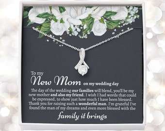 Sentimental Mother In Law Wedding Gift From Bride, Mother of the Groom Necklace, Future Mother in Law Wedding Gift, Gift For Mother-In-Law
