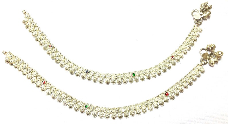Pair Indian Star Anklet Payal Silver Tone Bracelets Ankle Chain Fashion Jewelry High Quality Goods Anklets