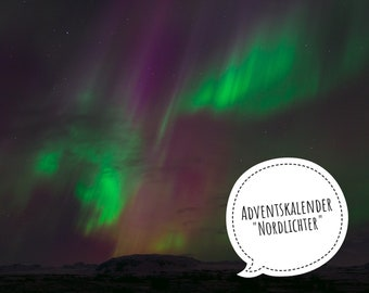 "PRE-ORDER: Advent calendar ""Northern Lights"", hand-dyed merino wool, 5x100g (each 400 m or 425 m)"