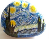 Lucky Charm Stone, Pebble, Hand Painted Stone, Gift Stone, Unique Stone, Residential Deco Stone, Nature Stone