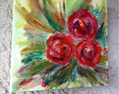 Acrylic paintings on canvas, painting painting, painting, nature picture, unique -flowers -roses picture, modern deco vintage design wall