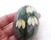 Easter decoration, Easter egg, pebble, handpainted stone, lucky charm