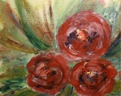 Easter decoration, painting, painting picture, acrylic painting, nature picture, unique picture, floral picture, roses picture