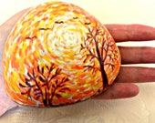Lucky Charm Stone, Pebble, Hand Painted Stone, Energy Stone, Magic Stone, Paperweight, Nature Stone, Birthday Gift