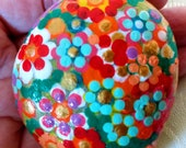 Easter Egg, Easter Decoration, Pebble, Handpainted Stone, Lucky Charm, Mandala Stone, Flowers Stone, Living Decoration