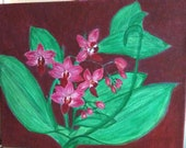 Easter decoration, painting painting picture, acrylic painting, nature picture, unique picture, flowers picture