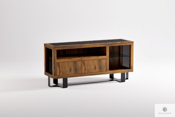 Tv Cabinet Custom Tv Stand Rustic Tv Console Oak Tv Table Etsy