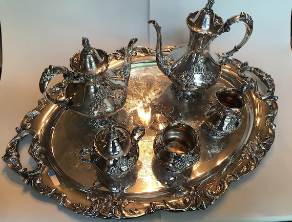 Reed /& Barton King Francis Silver Plate Butter Dish