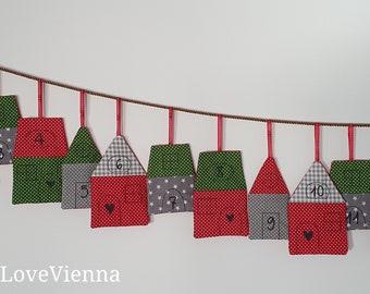 Advent Calendar Häuschen Pünktchen