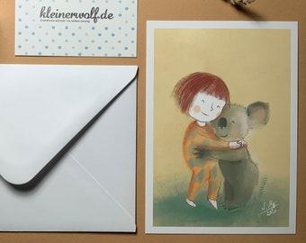 """Artist postcard """"stick together"""""""