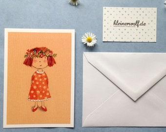 Artist postcard» spring boy «