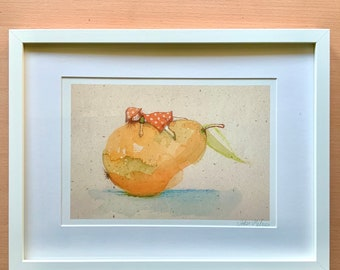 "Poster ""Pear Girl"", Art Print, DIN A4"