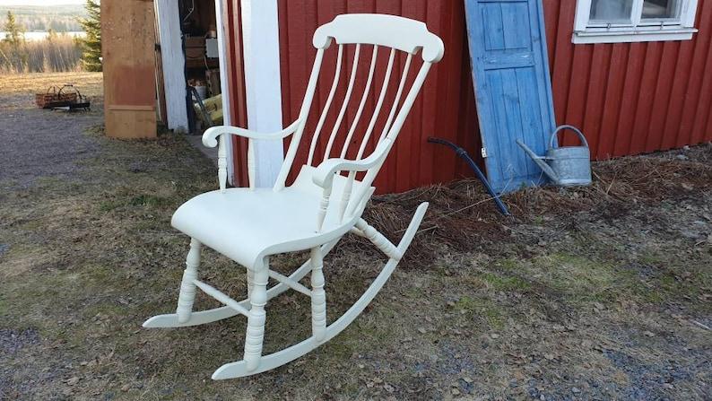 Amazing Antique Swedish Rocking Chair Rung Chair Beatyapartments Chair Design Images Beatyapartmentscom
