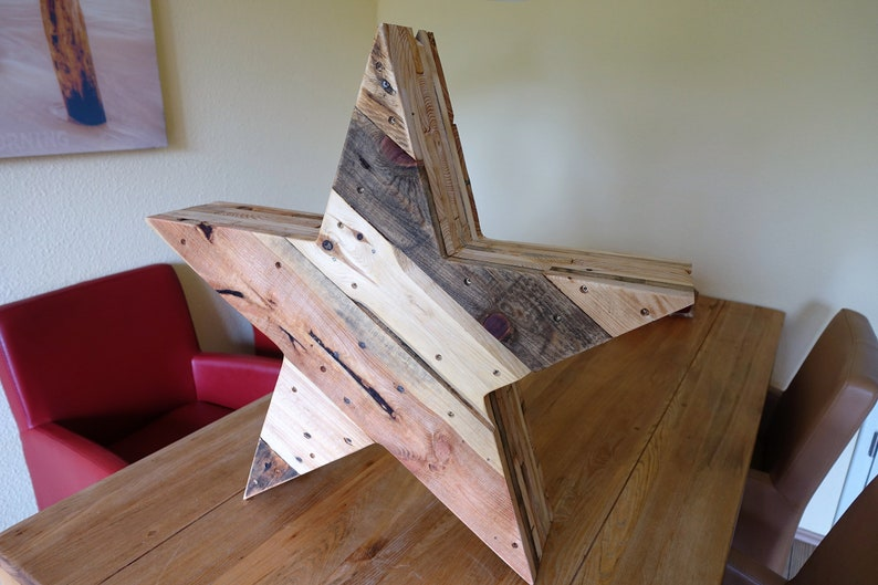 Star from pallet wood large image 0