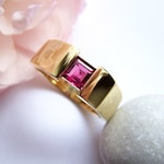 Ruby ring of 585 gold size 58 by Unique Master