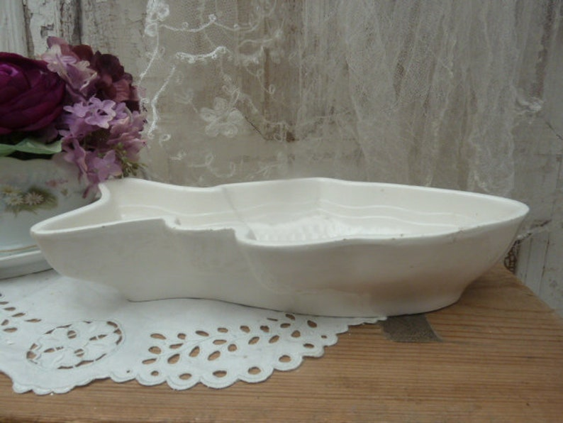 Vintage pudding shape earthenware