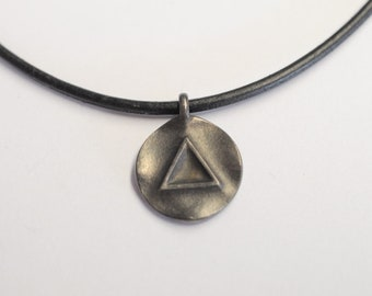 From 79.- Euro: Pendant Triathlon Sport with the element symbol water/fire made of blackened silver