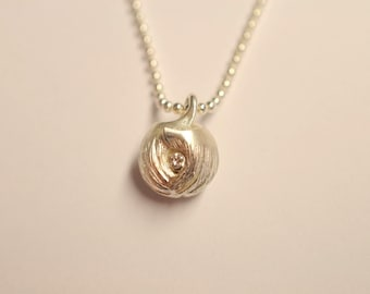 """From 229.- Euro: Guardian Angel Pendant """"Edition 2020"""" made of silver with diamond, spherical angel by höllwerk"""