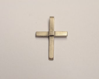 Cross pendant made of 585 white gold - popular as a gift for birth, baptism or communion, white gold cross, baptismal jewelry, baptismal cross