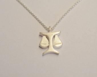 """From 79.- Euro: Zodiac sign pendant """"Libra"""" blackened from silver or silver, zodiac sign jewelry"""
