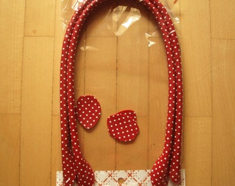 Pocket handles 70 cm red-white spotted