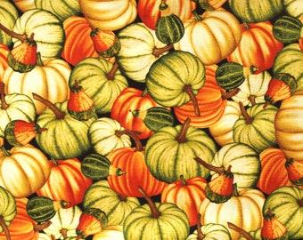 Fabric pumpkin small patterned
