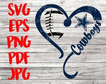 dallas cowboys heart svg