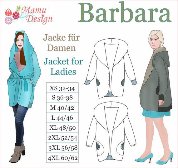 BARBARA E Pattern, E Book Jacket, Reversible Jacket Woman